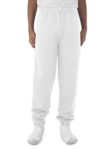 Jerzees Youth 8 oz., 50/50 NuBlend Sweatpants XL WHITE