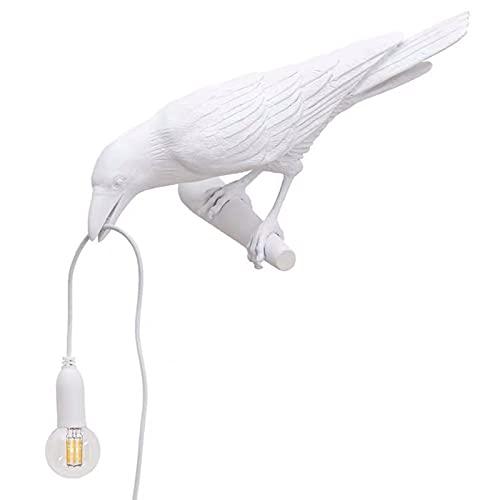 Lámpara de escritorio moderna, lámpara de pájaro de resina moderna Luces de mesa Lámparas de escritorio creativas Decoración de regalo de cabecera para dormitorio, sala de estudio. (Tres estilos),A