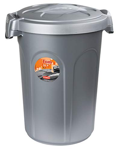 Kerbl Stefanplast Tom Tonne mit Deckle, Kunststoff, 46 Liter