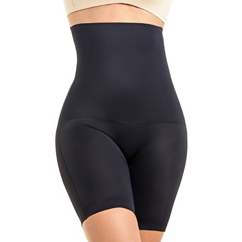 MOVWIN Shapewear Damen Miederhose Bauch Weg Stark Body Shaper Figurenformend Hohe Taille Miederslip Unterhose Taillenformer Firm Foundations für Frauen, Schwarz A, XXL