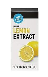 Amazon Brand - Happy Belly Pure Lemon Extract, 1 fl oz