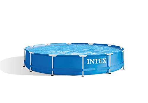 Intex Metal Frame Piscine démontable Sans épurateur 366 x 76 cm bleu