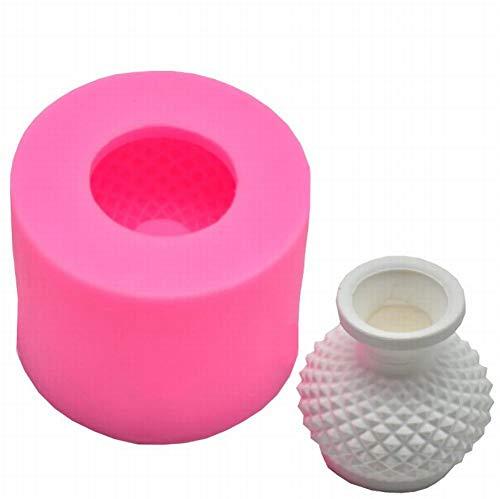 AKAMAS 3D Vase Shape Silicone Mold,Cake Decoration Chocolate Fondant Mold,DIY Mold(1 Piece,Pink).