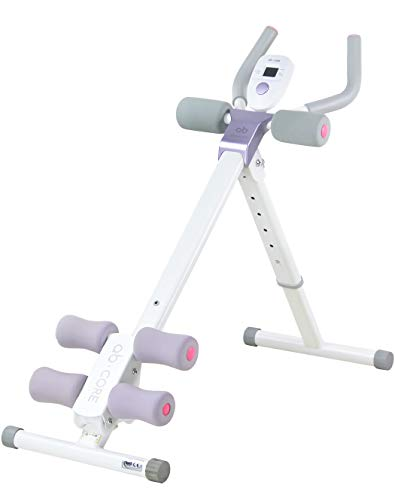 LeikeFitness Height Adjustable Ab Trainer Abdominal Whole Body Workout Machine Waist Cruncher Core Toner,Leg,Thighs,Buttocks Shaper with LCD Monitor AB9300 (Purple)