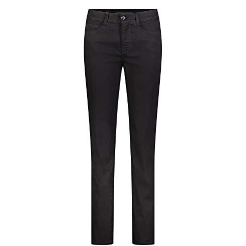 MAC JEANS Damen Angela_0380L Straight Jeans, Schwarz, W40/30L