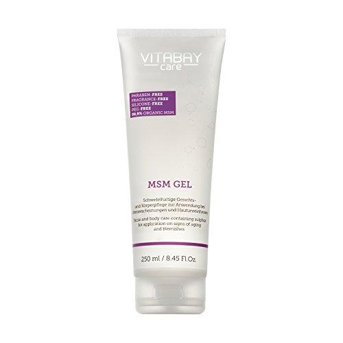 Vitabay MSM Gel Sensitive 250 ml • Für Körper und Gesicht • Mit organischem Schwefel • Ideal bei Akne und unreiner Haut