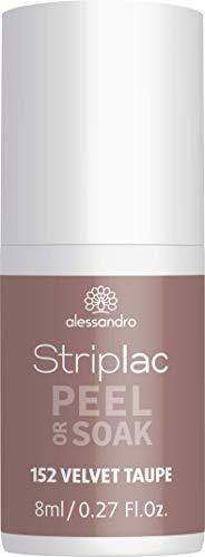 alessandro Striplac Peel or Soak Velvet Taupe - LED-Nagellack in hellem Taupeton - Für perfekte Nägel in 15 Minuten, 8 ml
