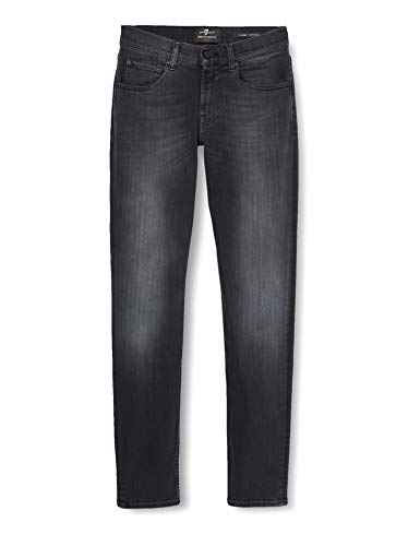 7 For All Mankind Slimmy Tapered Jeans, Nero (Luxe Performance Plus Washed Black 0bb), W33/L32 (Taglia Produttore: 33) Uomo