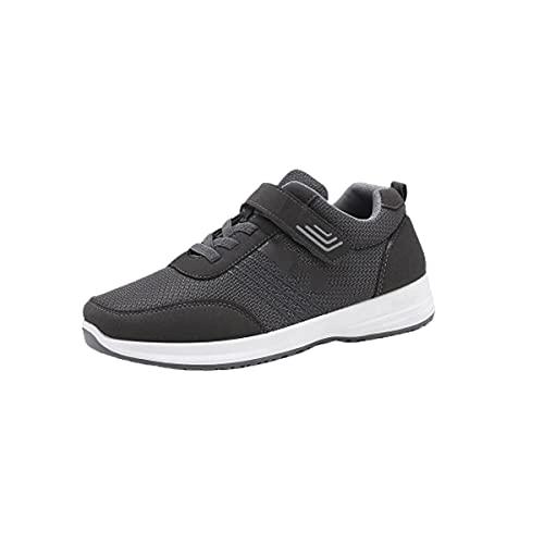Calzado de Fitness al Aire Libre Calzado de Running para Hombre y Mujer Zapatos Deportivos Calzado para Correr por Carretera Zapatillas Ligeras y Transpirables,Gray/Male,37EU
