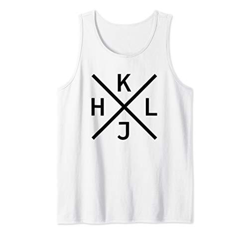 HJKL - Schwarzes Design für Hardcore vi/Vim Geeks & Nerds Tank Top