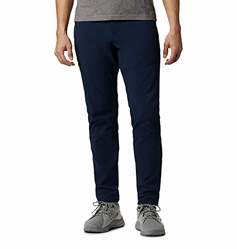 Columbia Tech Trail Warm Pant Pantalones para Senderismo, Azul Marino, 46 para Hombre
