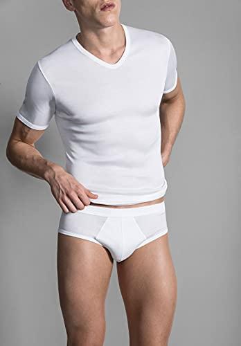 Perofil 'Collo V' - t-shirt in filo di scozia Tg. 6 (XL)
