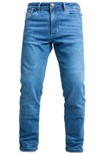 John Doe Pantalones de moto Taylor Mono,hombre,44/32,Azul claro