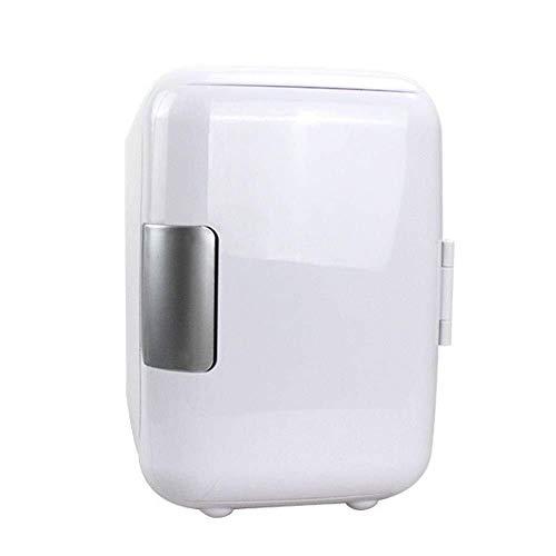ZHENYUE Tragbare ini Frige Gefrierschrank Kühlbox EIN Warer 6 Dosen Quiet ini Kühlschrank Copact Energy Star Auto oder Roo Büro-Wite 4L (Color : White, Size : 4L)