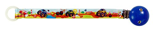 Hess Jouet en bois 13802 – Sucette Ruban en plastique, Monster Truck, env. 21 cm