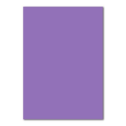 DIN A4 Kaarten Boog Planobogen 240 g/m2 Kleurrijke 50 Bogen 20-paars