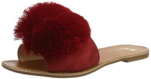 Dune Latino, Zapatillas de Estar por casa Mujer, Ante Rojo Rojo Rojo, 39 EU