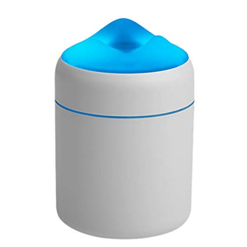TOOGOO Humidificador de Aire Humidificadores PortáTiles de Niebla FríA, Difusores Silenciosos de Escritorio USB, Luz Nocturna para el Hogar, Dormitorio, Oficina, Color Blanco
