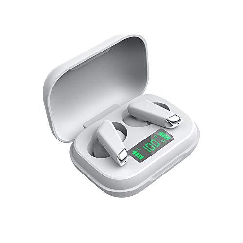 MAI Bluetooth-Headset, Ladebox, Business-Laufband, Fitness-Training, Power-Anzeige, kabellose Ohrstöpsel (weiß, Einheitsgröße)