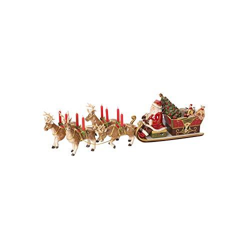 """Villeroy & Boch Christmas Toys Memory Boîte à musique """"Traîneau du père Noël"""", Porcelaine, Multicolore"""