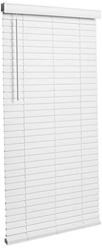 Achim Home Furnishings MFG231WH02 , White Cordless GII Madera Falsa 2' Faux Wood Plantation Blind 31' x 64'