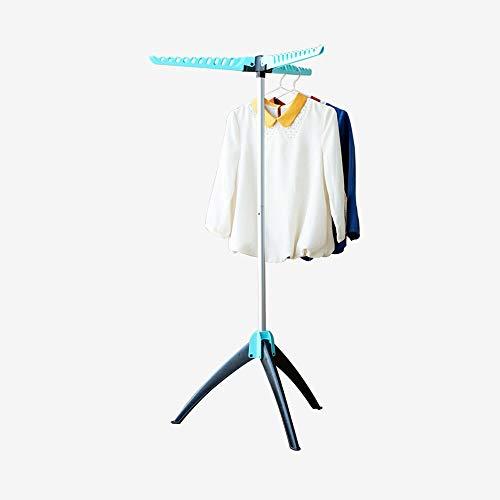 Estante de secado robusto y plegable Piso telescópico Habitación de tres patas Balcón Percha for eventos con 3 brazos Estantes de ropa portátiles Interior al aire libre Hangaway Soporte for per