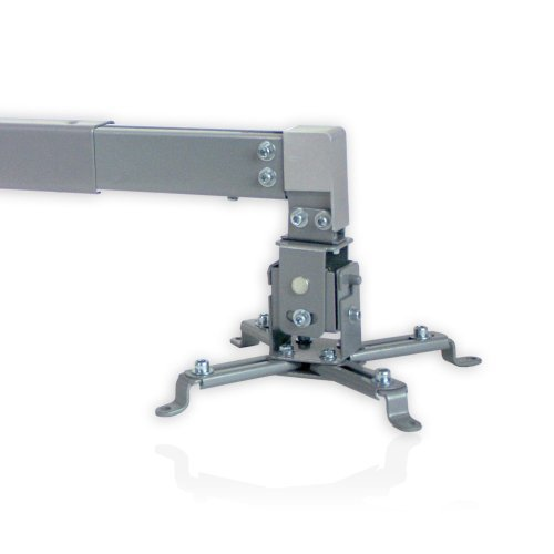 BEAMER WAND & plafondhouder, UITtrekbaar, zilver | Houder plafond/plafondhouder/draagarm