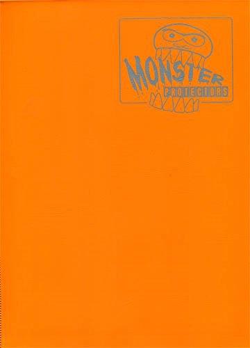 Monster Binder - 9 Pocket Trading Card Album - Matte Orange (Anti-theft Pockets Hold 360+ Yugioh, Pokemon, Magic the Gathering Cards) image
