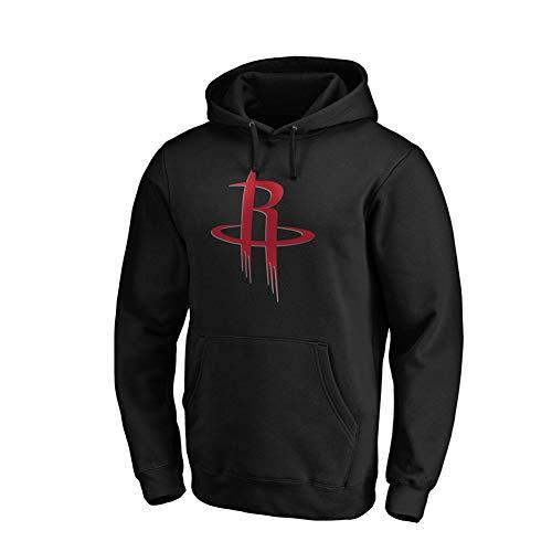 YUNAN - Sudadera de baloncesto para hombre y mujer, con capucha Houston Rockets con capucha, camiseta suelta para deportes y ropa informal, color negro