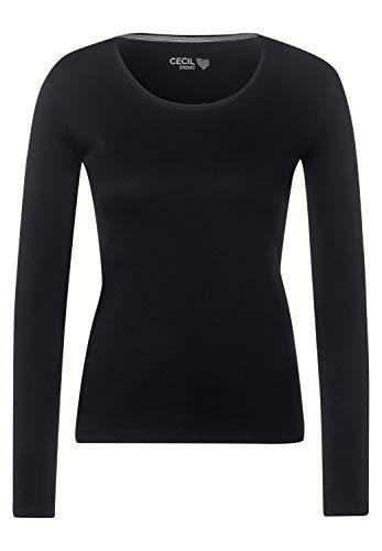 Cecil Damen Basic Langarmshirt Black M