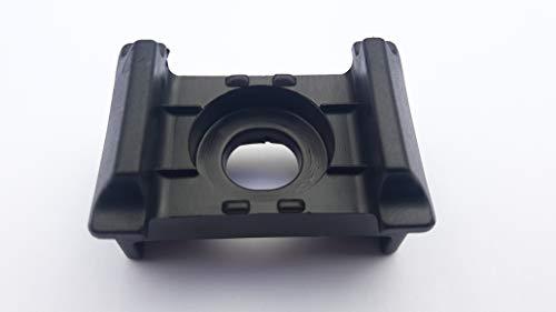 200 x Kunststoffblock schwarz für Doppelstabmattenzaun 46mm x 25mm Auflagebock