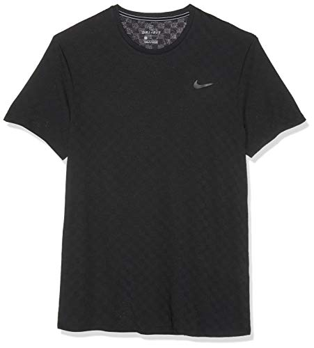 Nike Herren M NKCT CHLLNGR TOP SS T-Shirt, Black, S