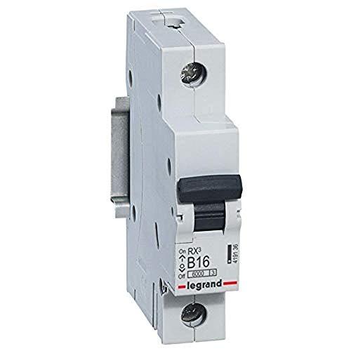 Interruptor diferencial B16 A, fusible automático B16 A/30 mA, característica B 30 mA, 1 polo, 230/400 V