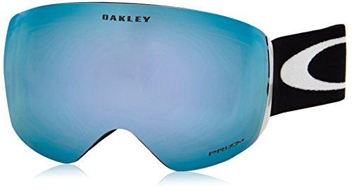 Oakley Volwassenen snowboardbril Flight Deck Prizm Sportbril, Zwart (Matte Black/Prizmsapphireiridium), L
