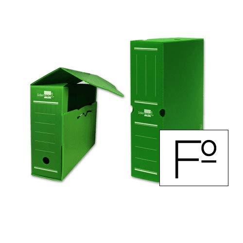 CABLEPELADO Caja archivo definitivo plastico Liderpapel 36x26x10 cm Verde