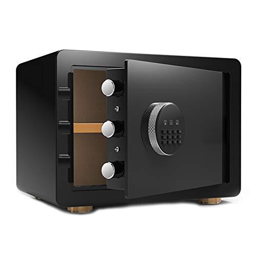 YJF-ZWS Electronic Security Safes with Digital Keypad - Wall Safe Office File Safe Household Bedside Safe Cabinet Safe Jewelry Safe Mini Cash Box,Black