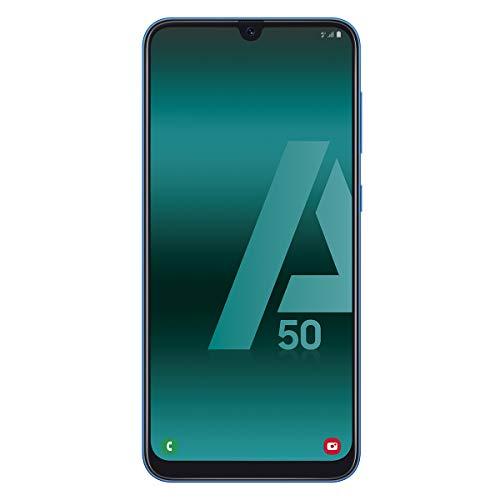 Samsung Galaxy A50 - Smartphone de 6.4' FHD sAmoled Infinity U Display (4 GB RAM, 128 GB ROM, 25 MP, Exynos 9610, Carga rápida), Azul [versión española]