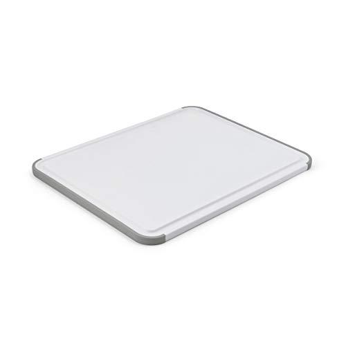 KitchenAid Tábua de corte de plástico antiderrapante clássica, 28 x 35 cm, branca