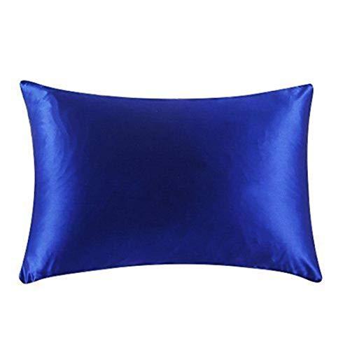 QSMIANA Fundas Cojines 45x45 Sofa Mulberry Silk Pillowcase con Cremallera Pillowcasas Funda De Almohada para Una Reina Sana Reina Multicolor