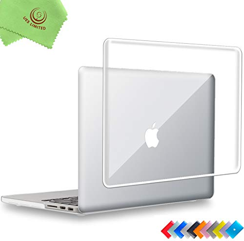UESWILL Glossy See Through Crystal Clear Hard Shell Case Cover for MacBook Pro (Retina, 13 inch, Early 2015/2014/2013/Late 2012), Model A1502/A1425, NO USB-C, NO CD-ROM, Clear