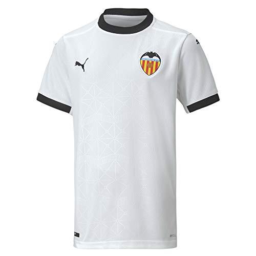 PUMA Valencia CF Temporada 2020/21-Home Shirt Replica Jr White-PUM Camiseta Primera Equipación, Niños