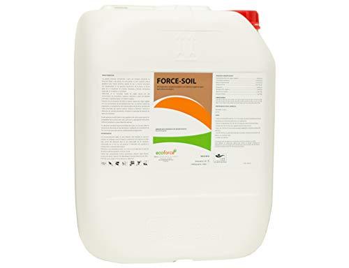 CULTIVERS Abono Concentrado Líquido con Aminoácidos de 5 l Ecológico. De Alta asimilación 100% Natural. Regenerador de la Vida del Suelo y Evita Obturaciones en Sistema de Riego. Force Soil