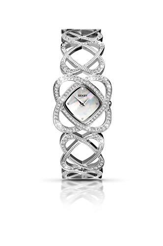 Orologio al quarzo da donna Sekonda con quadrante in madreperla, Display analogico e cinturino in acciaio INOX color argento 4109,37