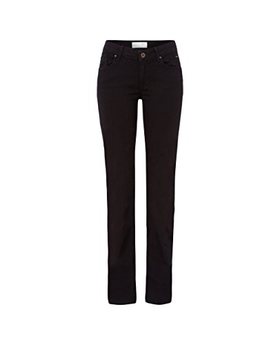 Cross Jeanshose Damen Boot-Cut Jeanshose Hoher Bund N 487-008 / Rose, Gr. 29/34, Schwarz (Black)