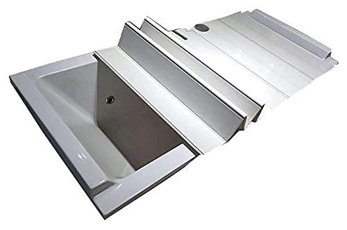 Cubierta de la bañera Cubierta de baño Anti-polvo plegable placa de polvo bañera cubierta de aislamiento PVC cubierta de bañera plegable Materiales seguros y ecológicos. ( Size : 135*75*0.6cm )