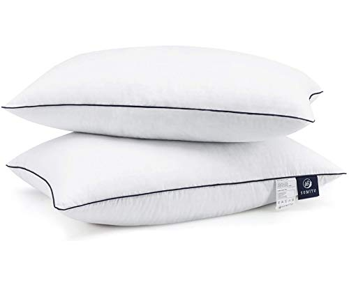 SUMITU Bed Pillows for Sleeping 2 Pack King Size 20 x 36 Inches, Hypoallergenic Pillow for Side and Back Sleeper, Soft Hotel Collection Gel Pillows Set of 2, Down Alternative Cooling Pillow