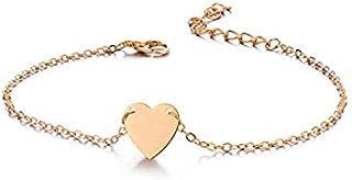 Bohemian Vintage Gold Heart Anklet Leg Bracelet Foot Anklets Adjustable Chain for Woman and Girls as a Gift for Her