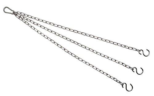KAMERO Blumenampel Ersatzkette Edelstahl 45cm mit S-Haken Asym, V4A, rostfrei
