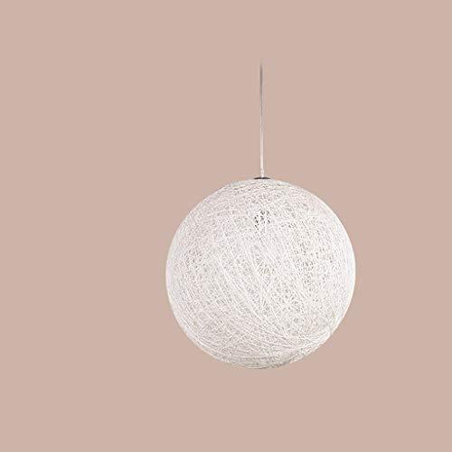 Hennep kroonluchter woonkamer restaurant tafel creatieve rotanlook wol gedraaid LED E27 eenvoudig (grootte: D60 cm)