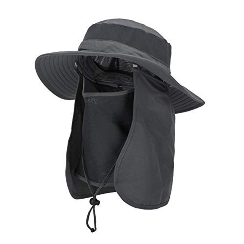 ASY Outdoor Sun Hat UPF 50 Protection Waterproof Fishing Cap Face Cover Summer Neck Flap Hat